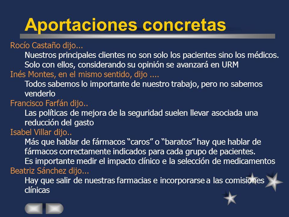 Rocío Castaño dijo...Nuestros principales clientes no son solo los pacientes sino los médicos.