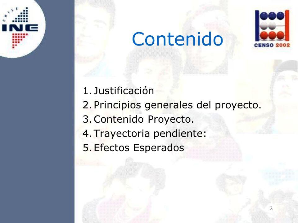 2 Contenido 1.Justificación 2.Principios generales del proyecto.