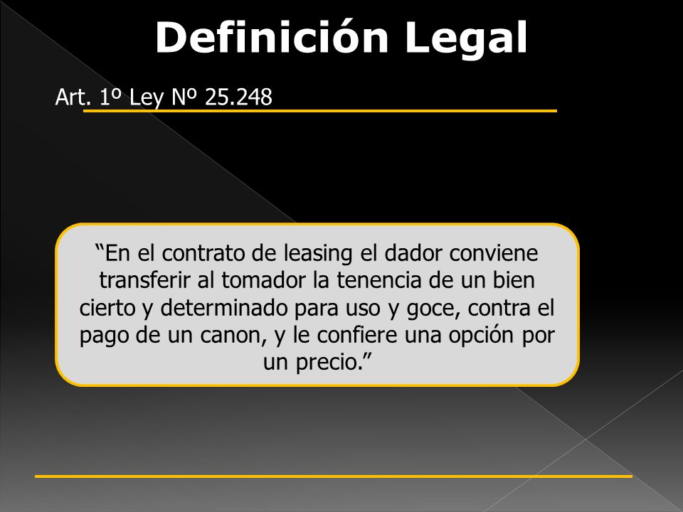 Diferenciación Legal OPERATIVO Contrato de locación.