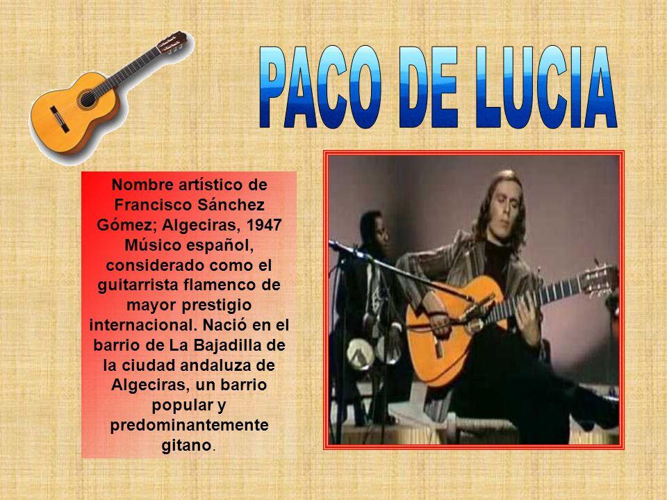 Tomatito es el nombre artístico de José Fernández Torres, guitarrista flamenco nacido en Almería en 1958, en el barrio de Pescaderíaguitarrista Almería