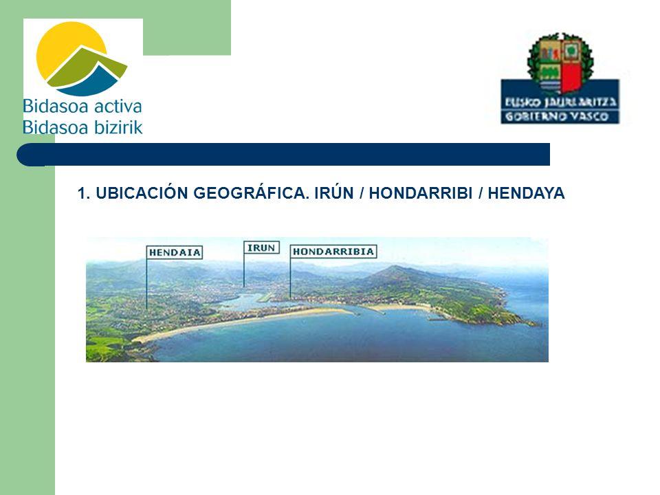 1. UBICACIÓN GEOGRÁFICA. IRÚN / HONDARRIBI / HENDAYA
