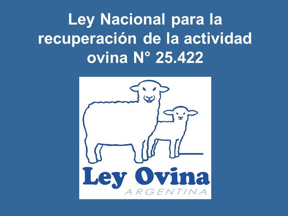 Ley Nacional para la recuperación de la actividad ovina N° 25.422