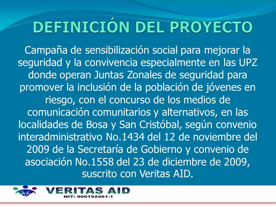 Campaña de sensibilización social para mejorar la seguridad y la convivencia especialmente en las UPZ donde operan Juntas Zonales de seguridad para pr