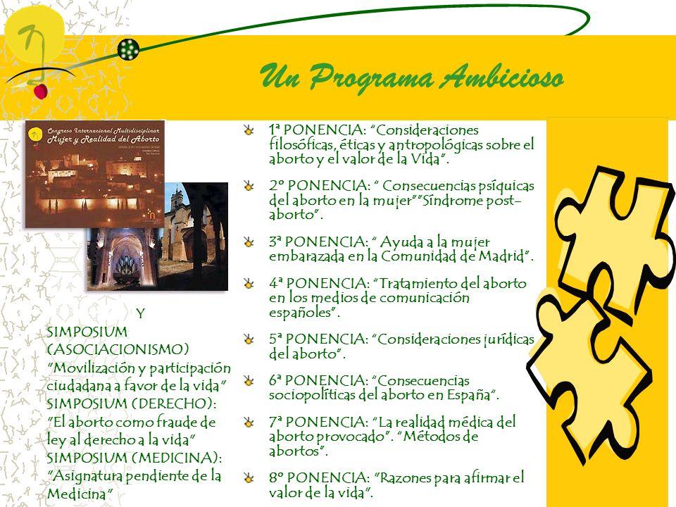 Un Programa Ambicioso Y SIMPOSIUM (ASOCIACIONISMO)