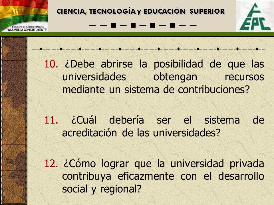CIENCIA, TECNOLOGÍA y EDUCACIÓN SUPERIOR 10.