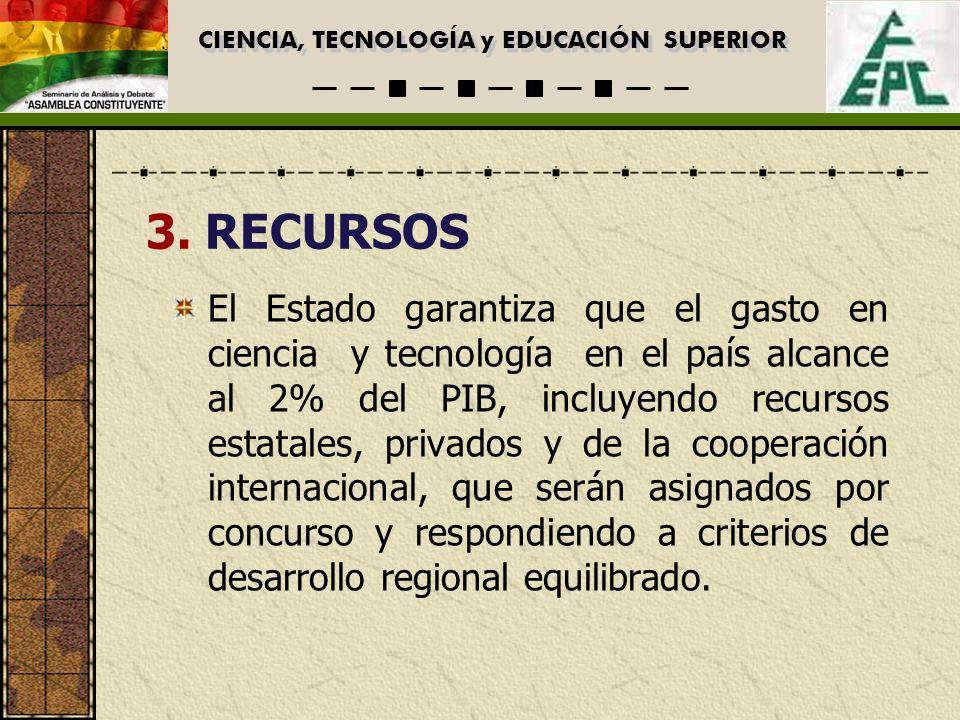 CIENCIA, TECNOLOGÍA y EDUCACIÓN SUPERIOR EDUCACION SUPERIOR Agenda de trabajo para la discusión