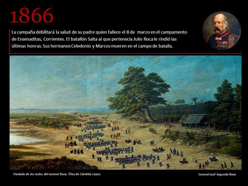 Participa en el combate y conquista de Uruguayana, en poder de las fuerzas paraguayas.