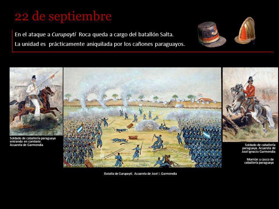 El 24 de mayo se lleva a cabo la batalla de Tuyutí, la mayor y más cruenta desarrollada en América del Sur.