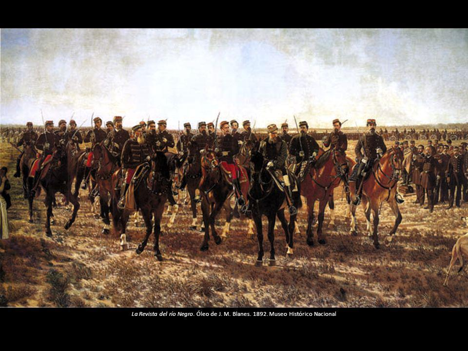 La Revista del río Negro. Óleo de J. M. Blanes. 1892. Museo Histórico Nacional
