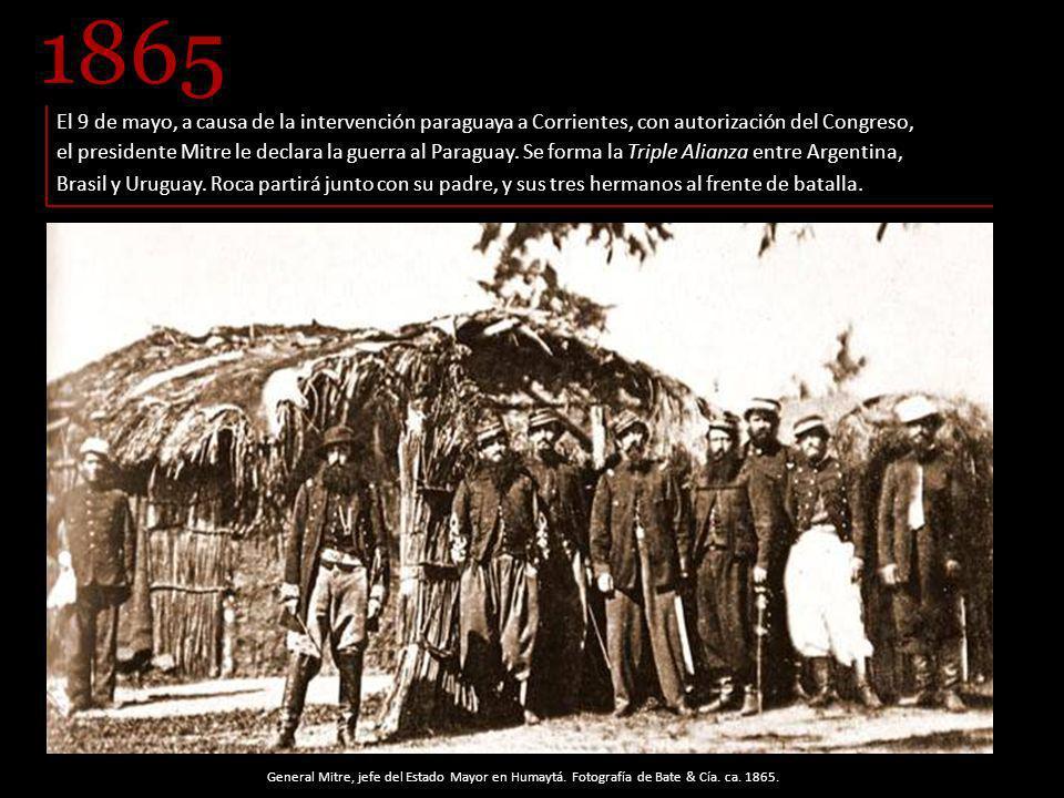 El 9 de mayo, a causa de la intervención paraguaya a Corrientes, con autorización del Congreso, el presidente Mitre le declara la guerra al Paraguay.