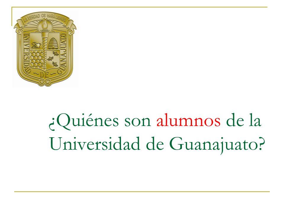¿Quiénes son alumnos de la Universidad de Guanajuato?