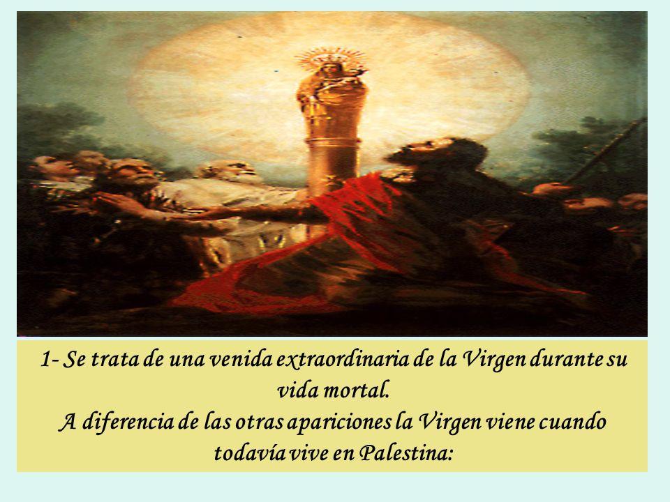 Características de la Virgen del Pilar, que la distinguen de las otras: