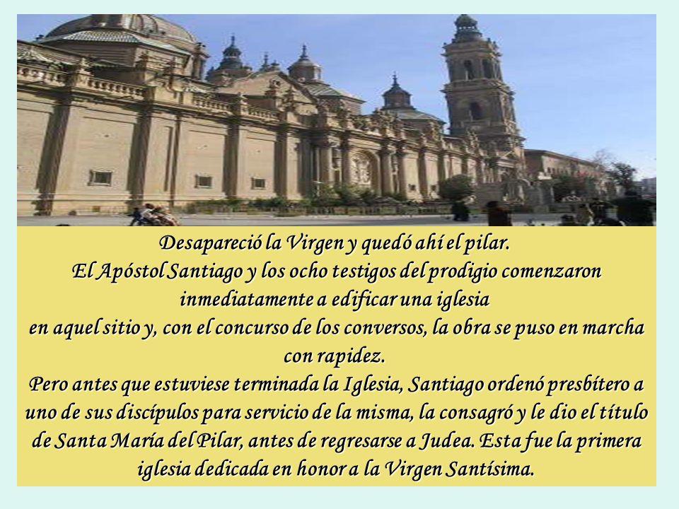 En la noche del 2 de enero del año 40, Santiago se encontraba con sus discípulos junto al río Ebro cuando