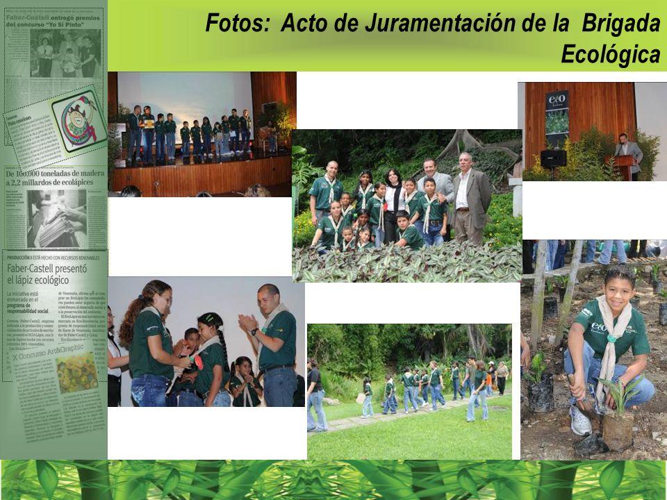 Fotos: Acto de Juramentación de la Brigada Ecológica