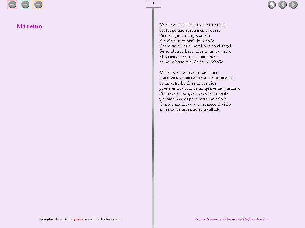 14 Ejemplar de cortesía gratis www.interlectores.comVersos de amor y de locura de Delfina Acosta