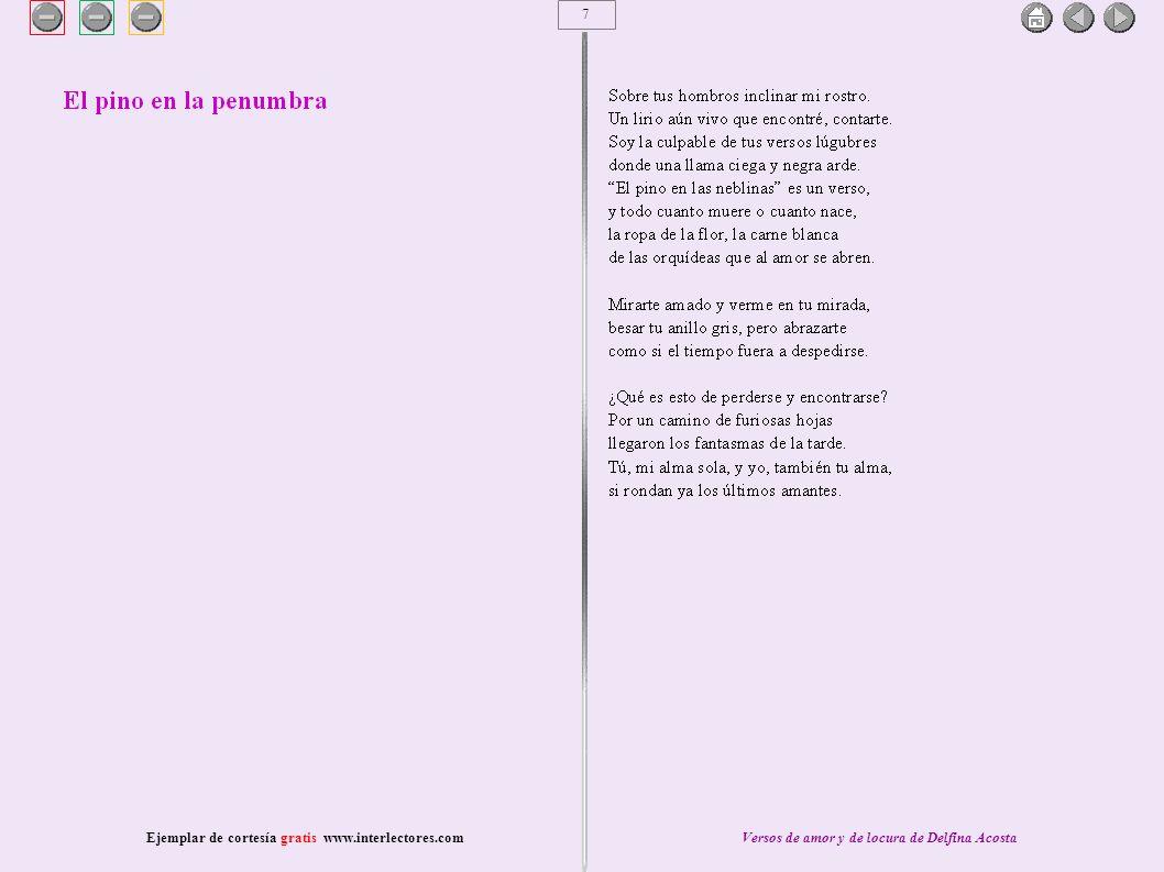 8 Ejemplar de cortesía gratis www.interlectores.comVersos de amor y de locura de Delfina Acosta
