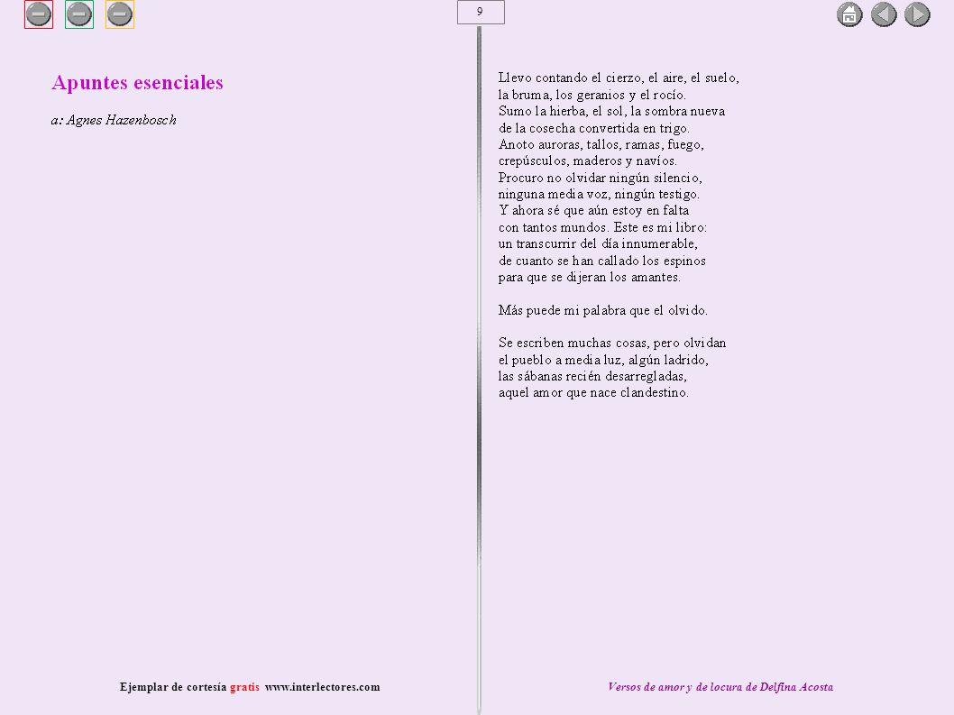 40 Ejemplar de cortesía gratis www.interlectores.comVersos de amor y de locura de Delfina Acosta
