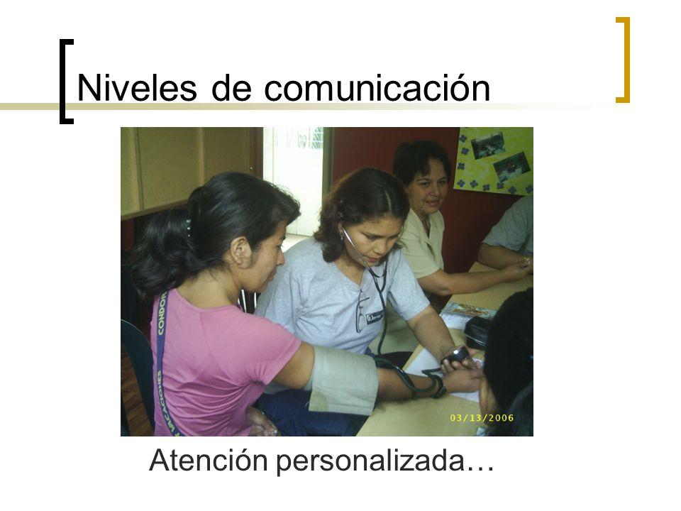 Niveles de comunicación Atención personalizada…