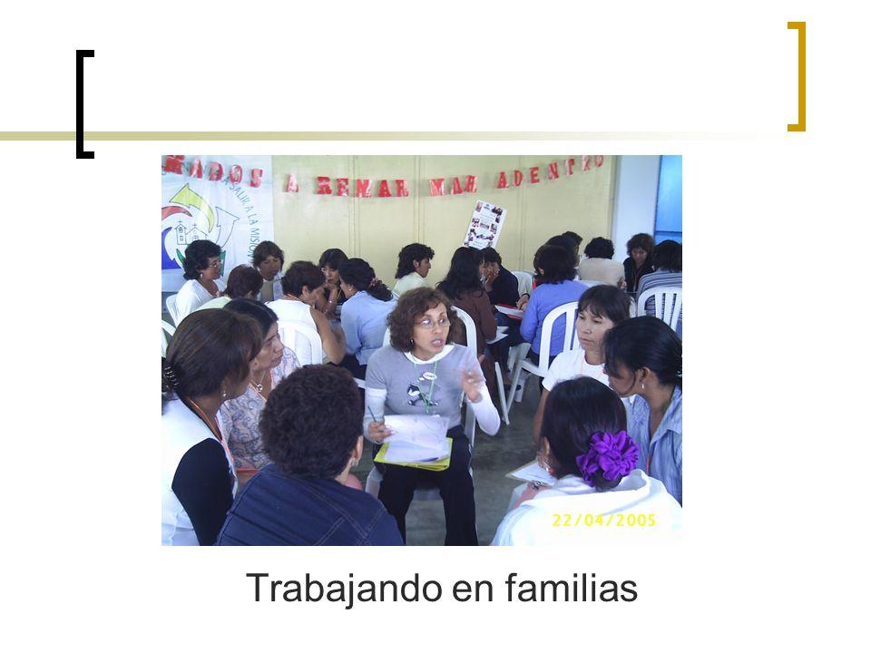 Trabajando en familias