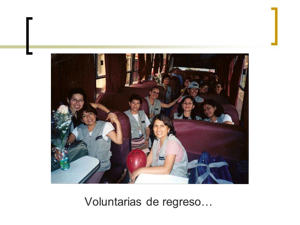 Voluntarias de regreso…