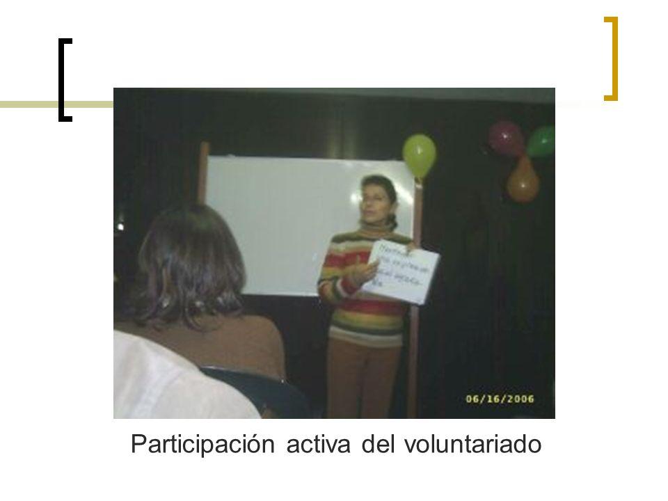 Participación activa del voluntariado