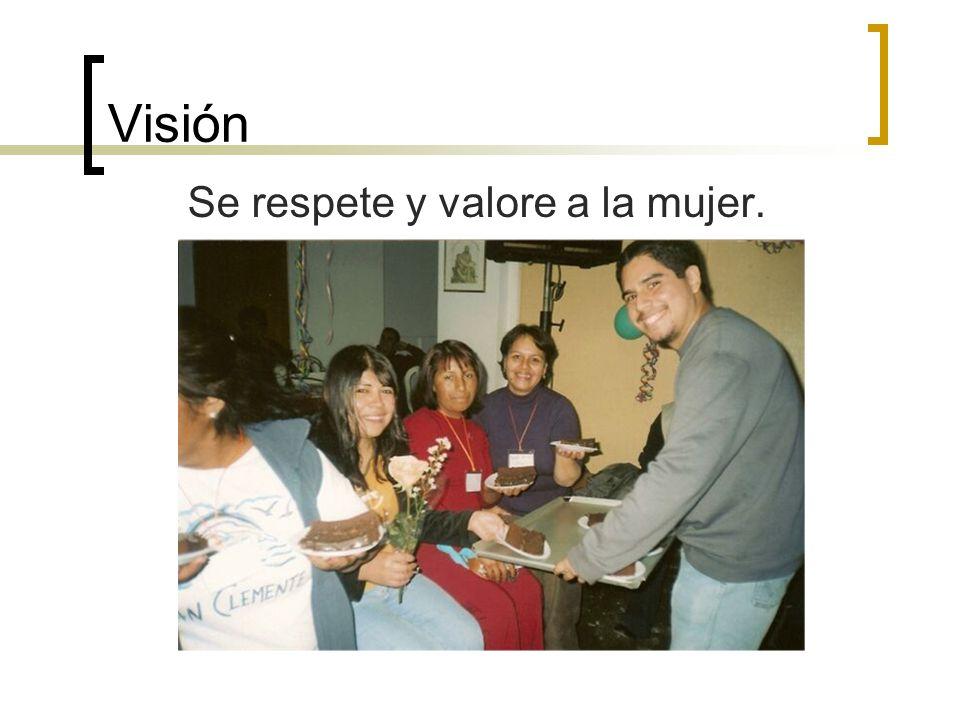 Visión Se respete y valore a la mujer.