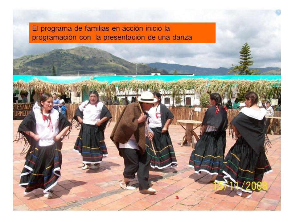 El programa de familias en acción inicio la programación con la presentación de una danza
