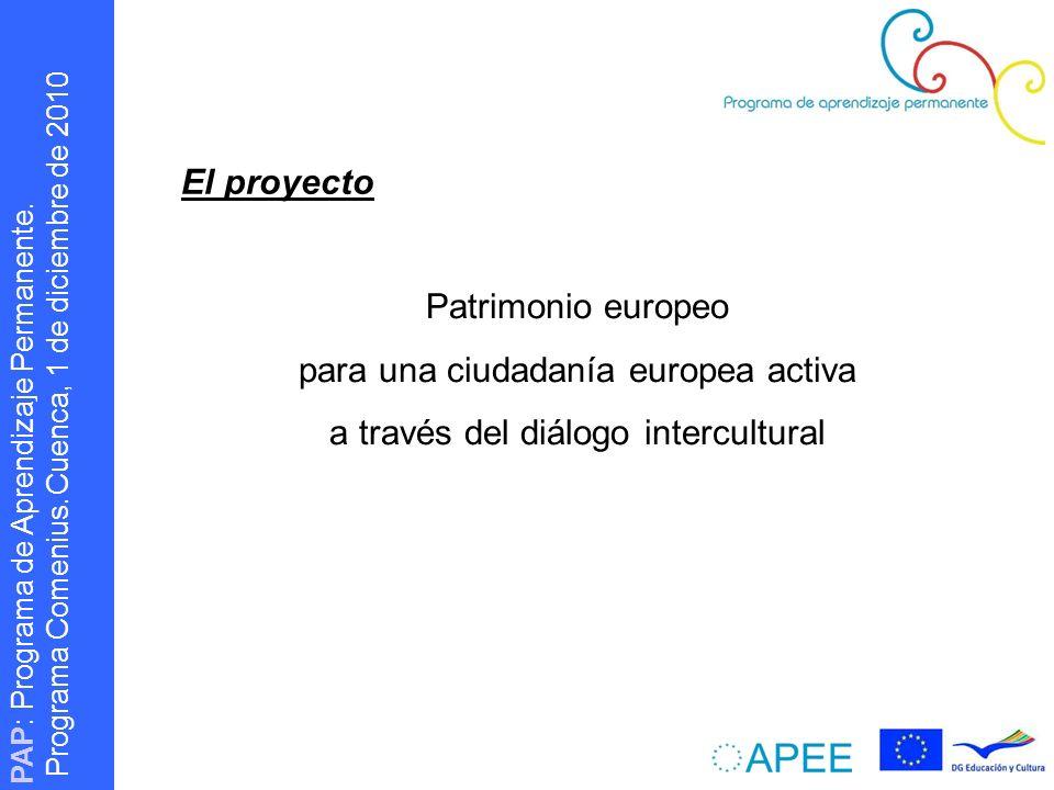 PAP : Programa de Aprendizaje Permanente.Programa Comenius.