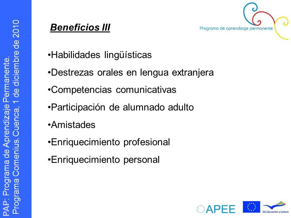 PAP : Programa de Aprendizaje Permanente. Programa Comenius.
