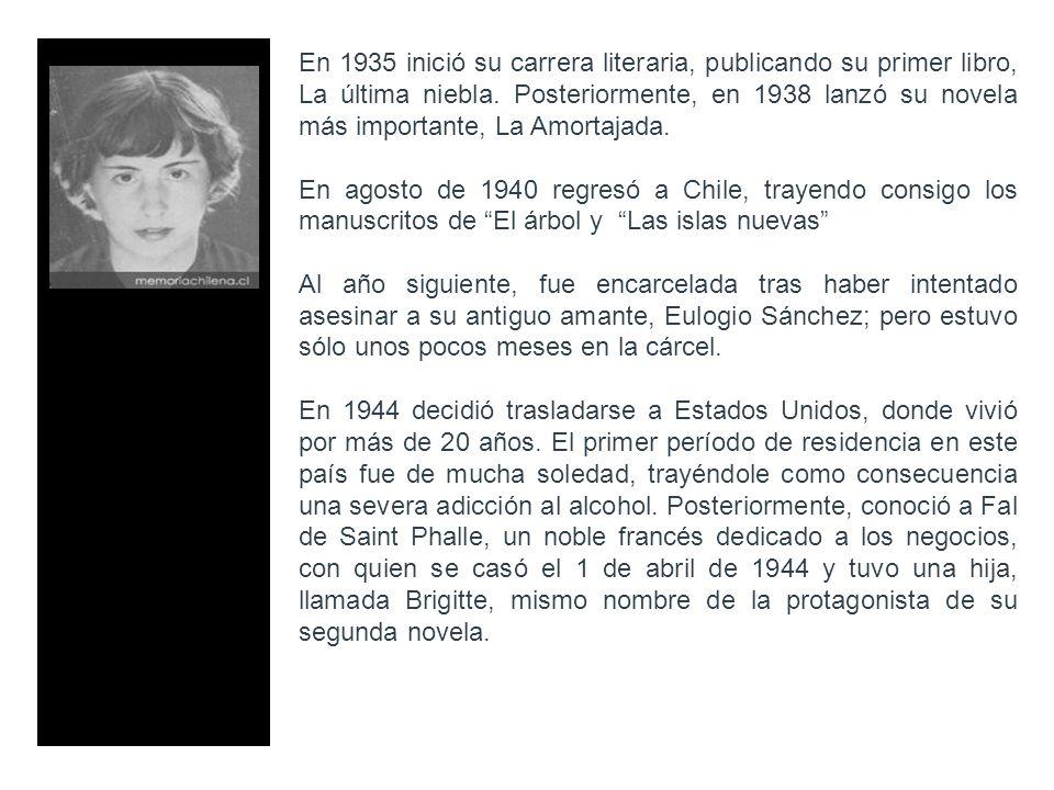 En 1935 inició su carrera literaria, publicando su primer libro, La última niebla. Posteriormente, en 1938 lanzó su novela más importante, La Amortaja
