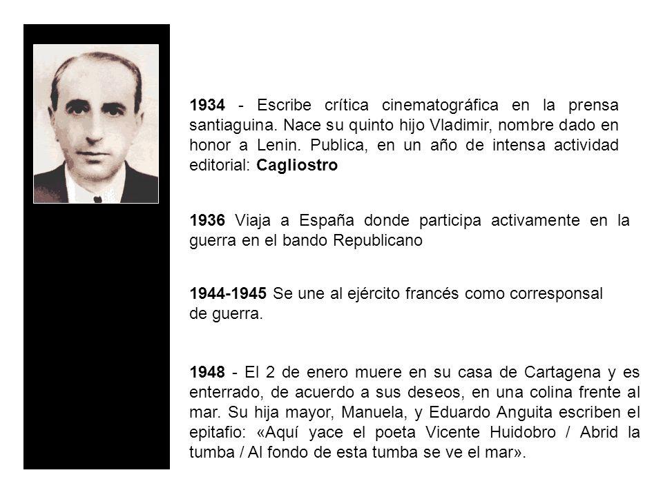 1936 Viaja a España donde participa activamente en la guerra en el bando Republicano 1944-1945 Se une al ejército francés como corresponsal de guerra.