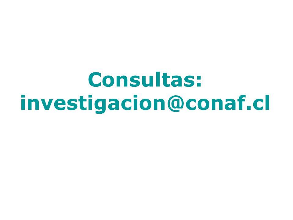 Consultas: investigacion@conaf.cl