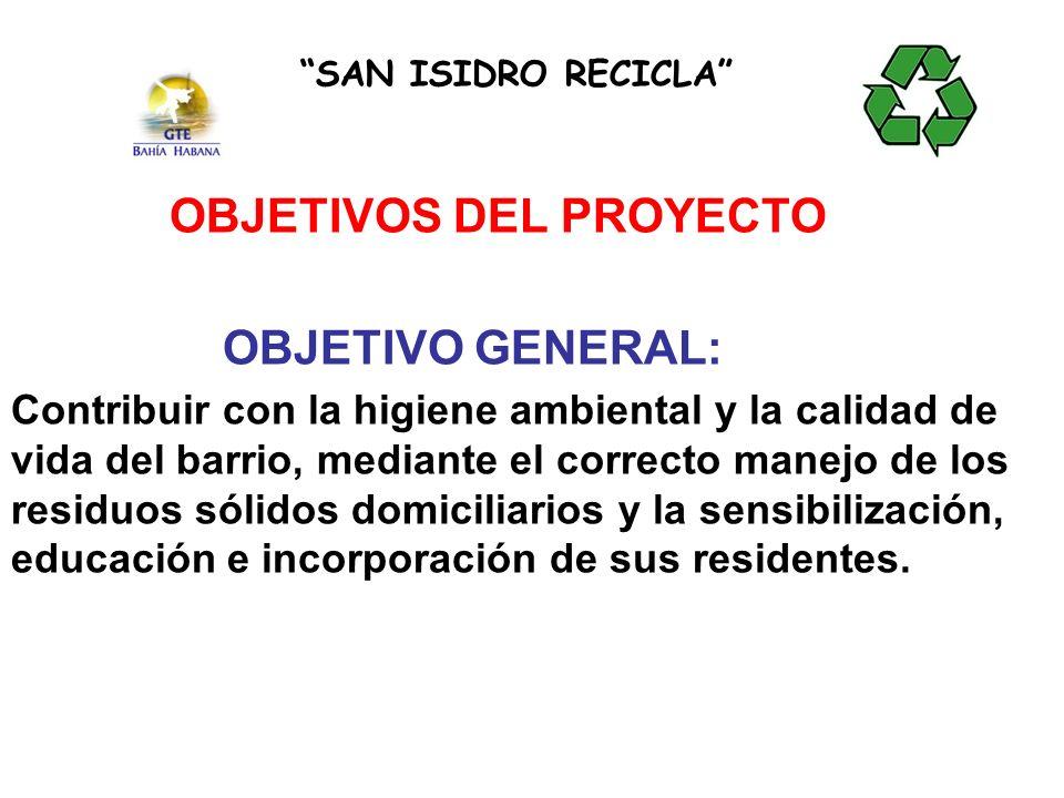 CONSULTAMOS EL PROYECTO A LA COMUNIDAD Y FUE ACEPTADO SAN ISIDRO RECICLA RESULTADOS ALCANZADOS