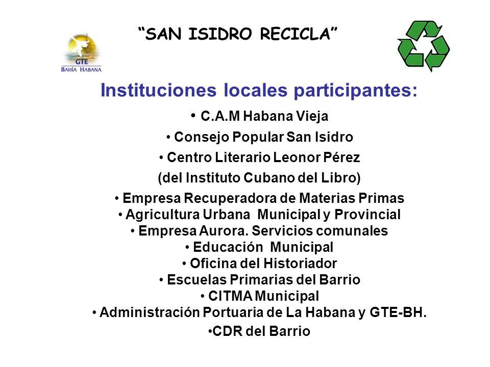 ACONDICIONAMIENTO DEL HUERTO PARA RECICLAR LA MATERIA ORGÁNICA Y REPARACIÓN DE LA CERCA DE FACHADA SAN ISIDRO RECICLA RESULTADOS ALCANZADOS RECONSTRUCCIÓN DE LA CERCA DE FACHADA DEPÓSITOS DE RESIDUOS ORGÁNICOS