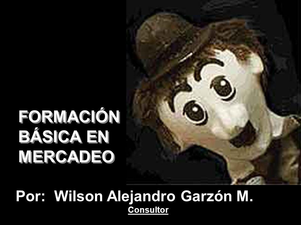 FORMACIÓN BÁSICA EN MERCADEO Por: Wilson Alejandro Garzón M. Consultor