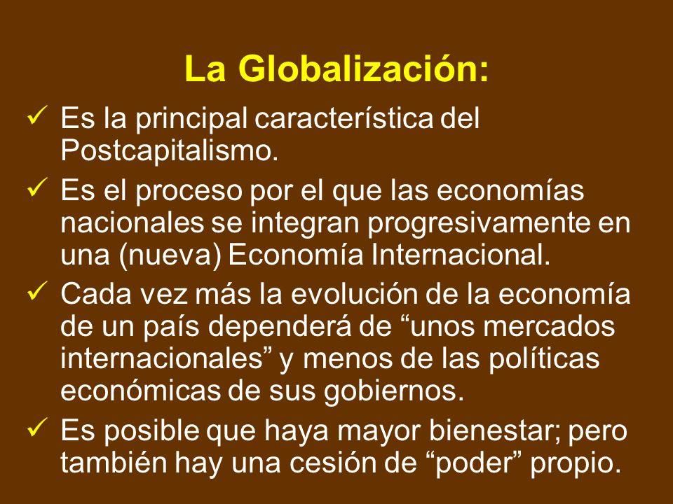 Algunas características de la Economía Global: La Economía Global no tiene religión. La Economía Global no tiene ideología. La Economía Global se refi