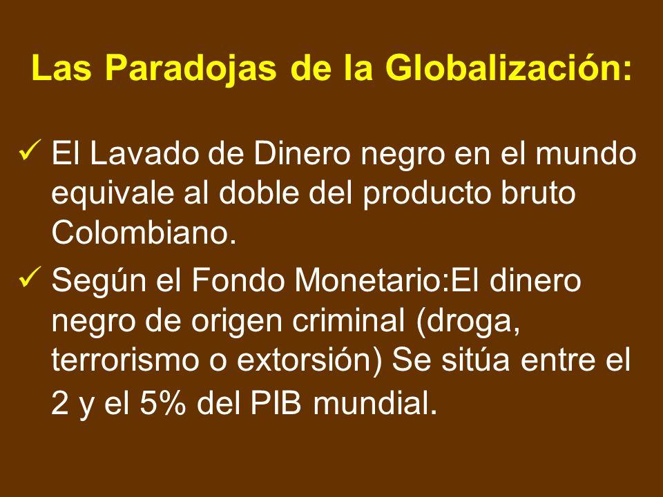 Las Paradojas de la Globalización: Las transacciones financieras diarias son del orden de 1,5 Billones de U$S, es decir la producción de bienes y serv