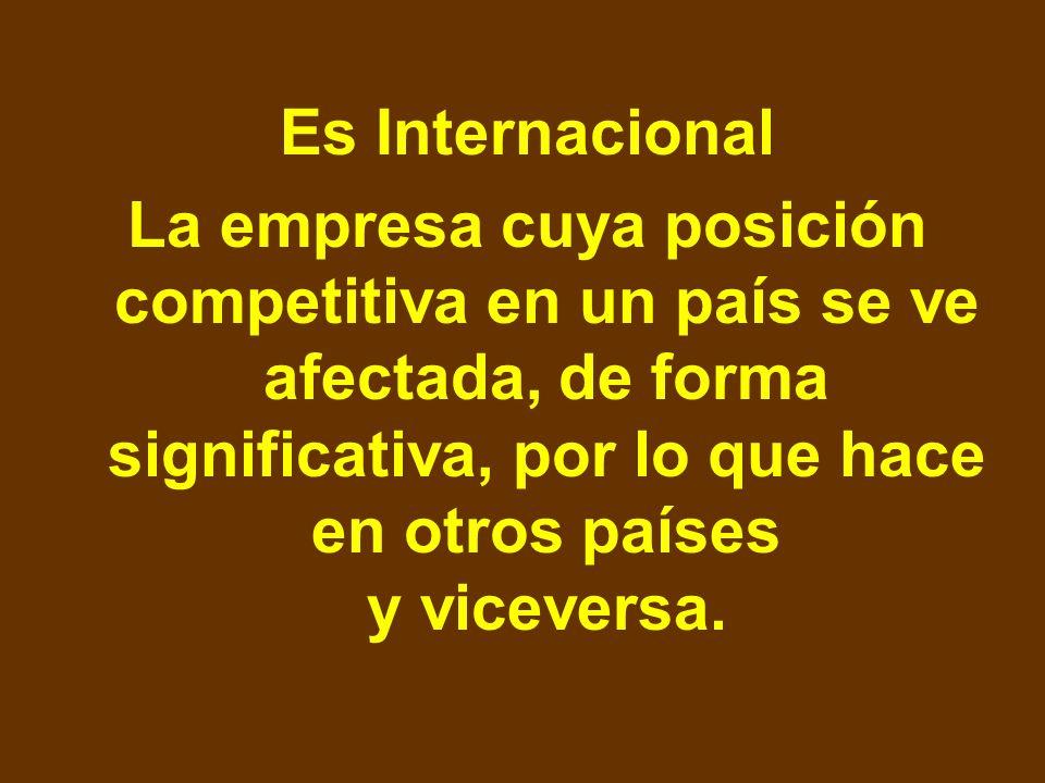¿Qué no es una empresa internacional? No es Internacional: Una empresa dedicada exclusivamente a la producción de bienes y servicios para una economía