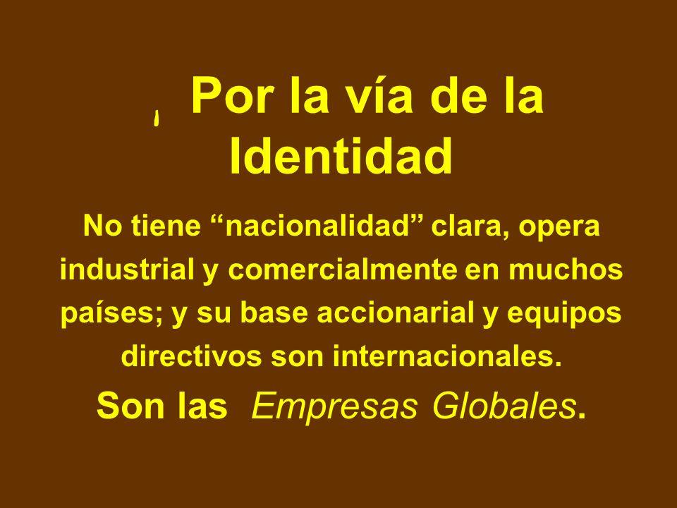 Son multinacionales con la base de propiedad anclada firmemente en un país determinado y que extienden su actividad de producción y/o integración en u