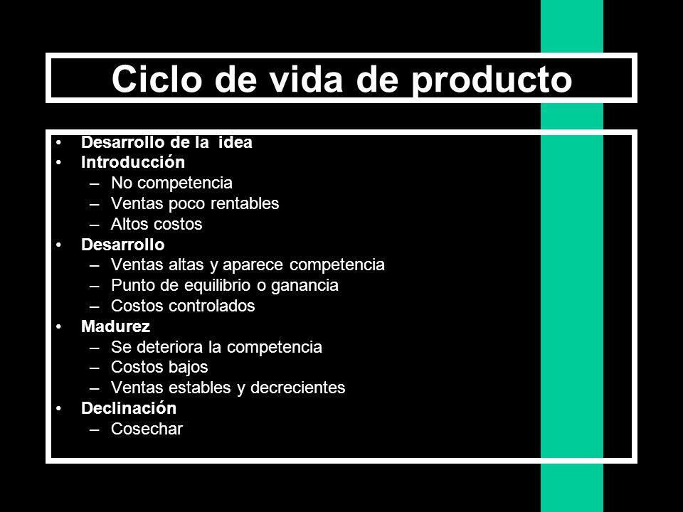 La Gestión del Producto El enfoque es diferente según: Debemos dejar de pensar como productor y aprender a pensar como los clientes El ProductorLos Cl
