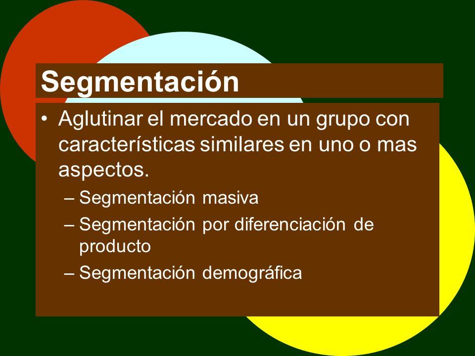 Targeting La selección de un grupo especifico. –Seleccionar un grupo específico –Localizar nuevos segmentos –Definir una estrategia –Aspectos éticos y