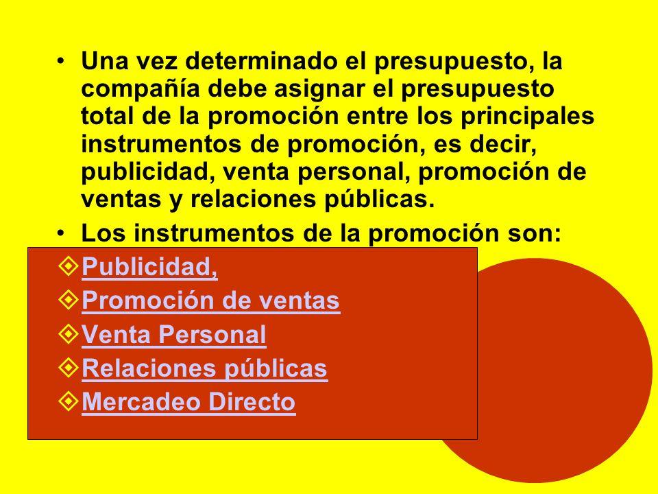 Promoción El proceso de comunicarEl proceso de comunicar –Medios –Niveles de promoción –tipos de mensaje –Presupuestos