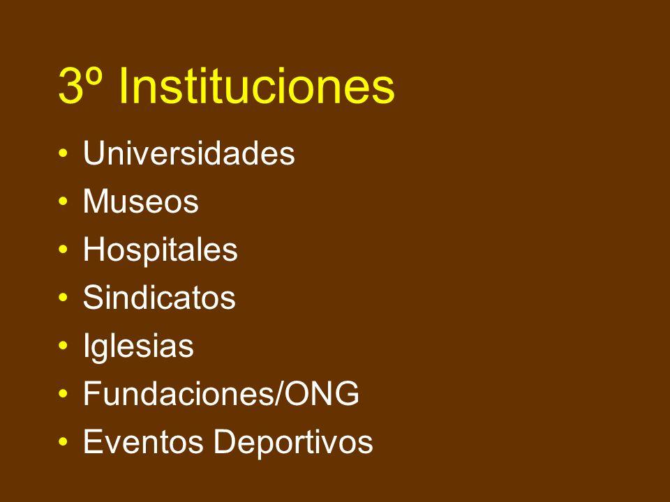 2º Organismos Públicos Contratación Directa Prescriptores (Tradings, Ingenierías, Consultores) Participación de organismos de financiación internacion