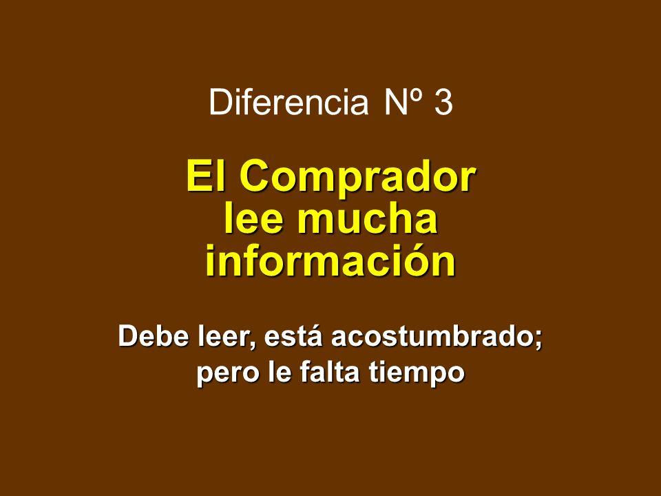 Diferencia Nº 2 El Comprador de Empresa es Sofisticado El comprador tiene interés y sabe cuál es el problema a resolver Para el vendedor es más difíci