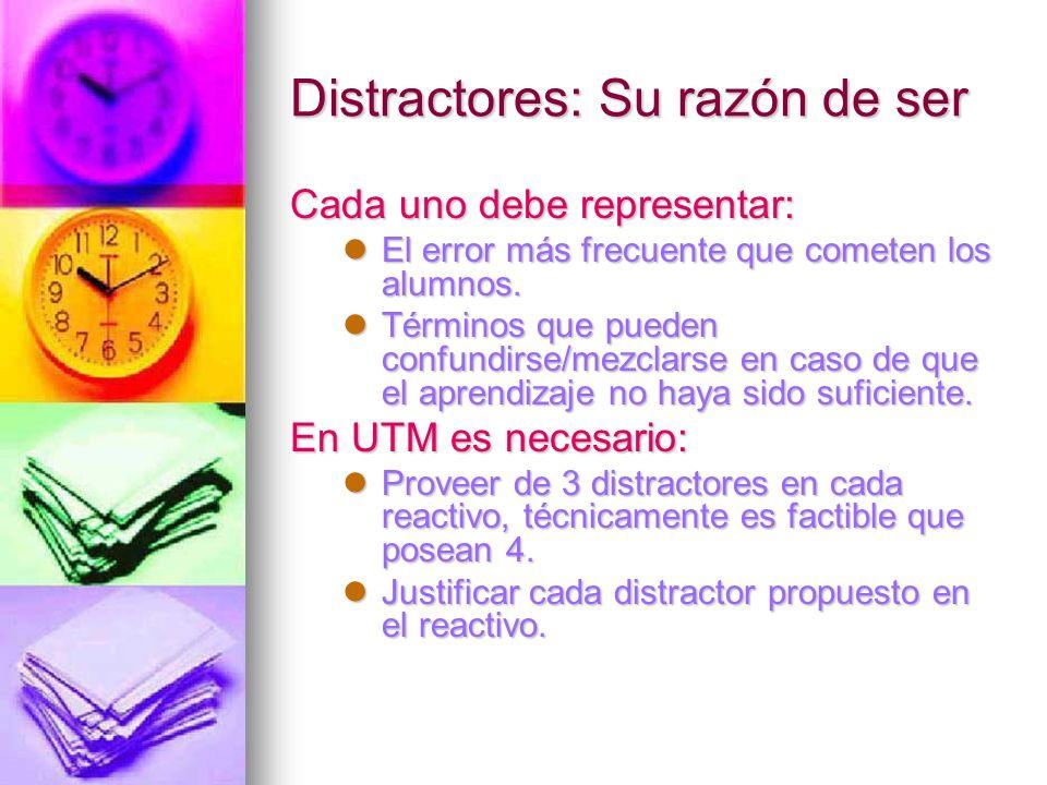 Justificación de los distractores.a) Respuesta correcta.