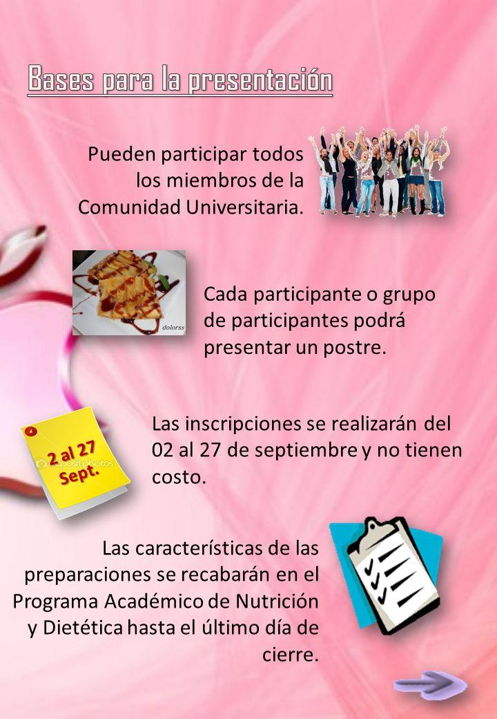 Pueden participar todos los miembros de la Comunidad Universitaria.