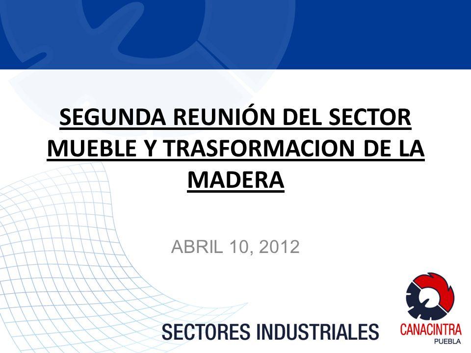 SEGUNDA REUNIÓN DEL SECTOR MUEBLE Y TRASFORMACION DE LA MADERA ABRIL 10, 2012