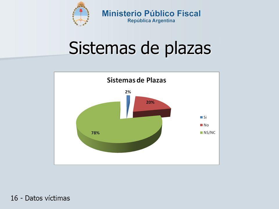 Sistemas de plazas 16 - Datos víctimas