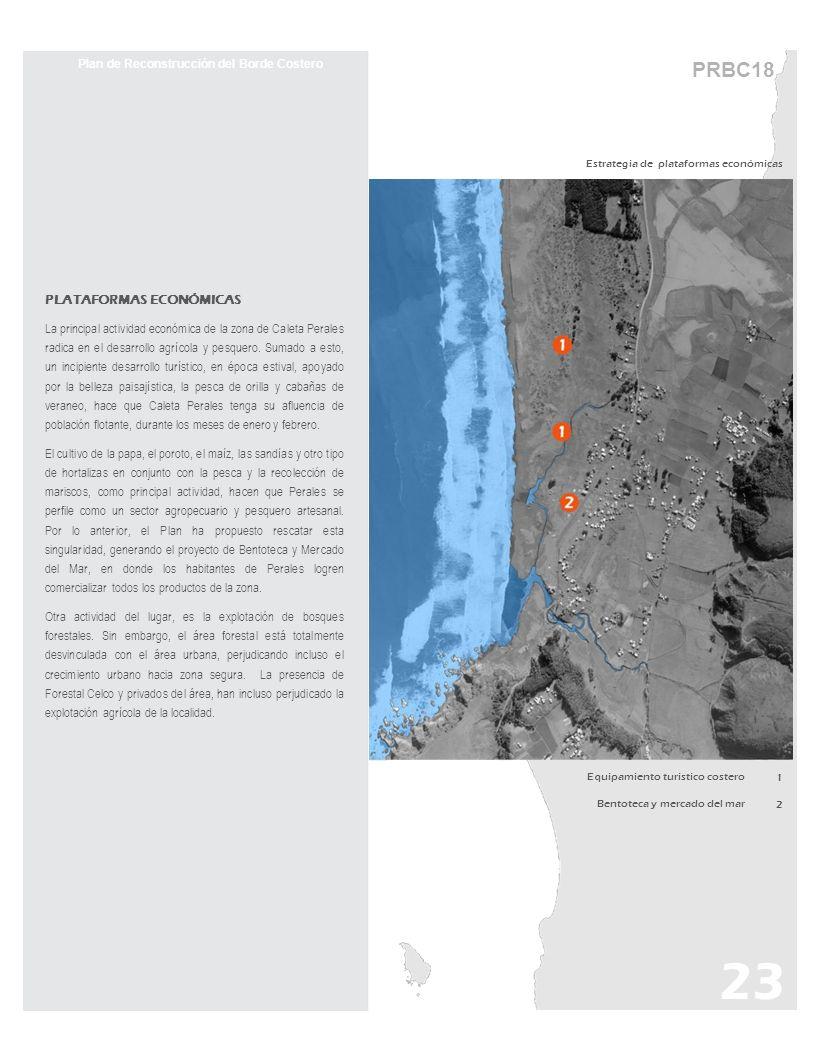 Plan de Reconstrucción del Borde Costero Estrategia de plataformas económicas PLATAFORMAS ECONÓMICAS La principal actividad económica de la zona de Ca