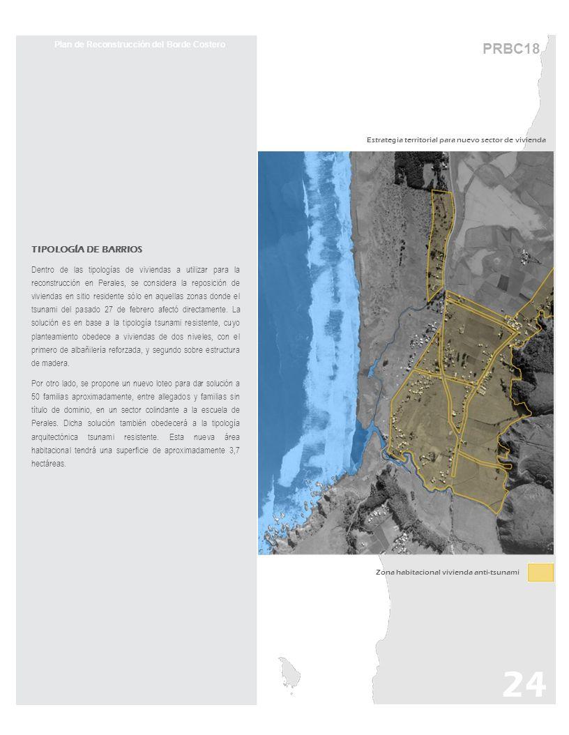 TIPOLOGÍA DE BARRIOS Dentro de las tipologías de viviendas a utilizar para la reconstrucción en Perales, se considera la reposición de viviendas en si